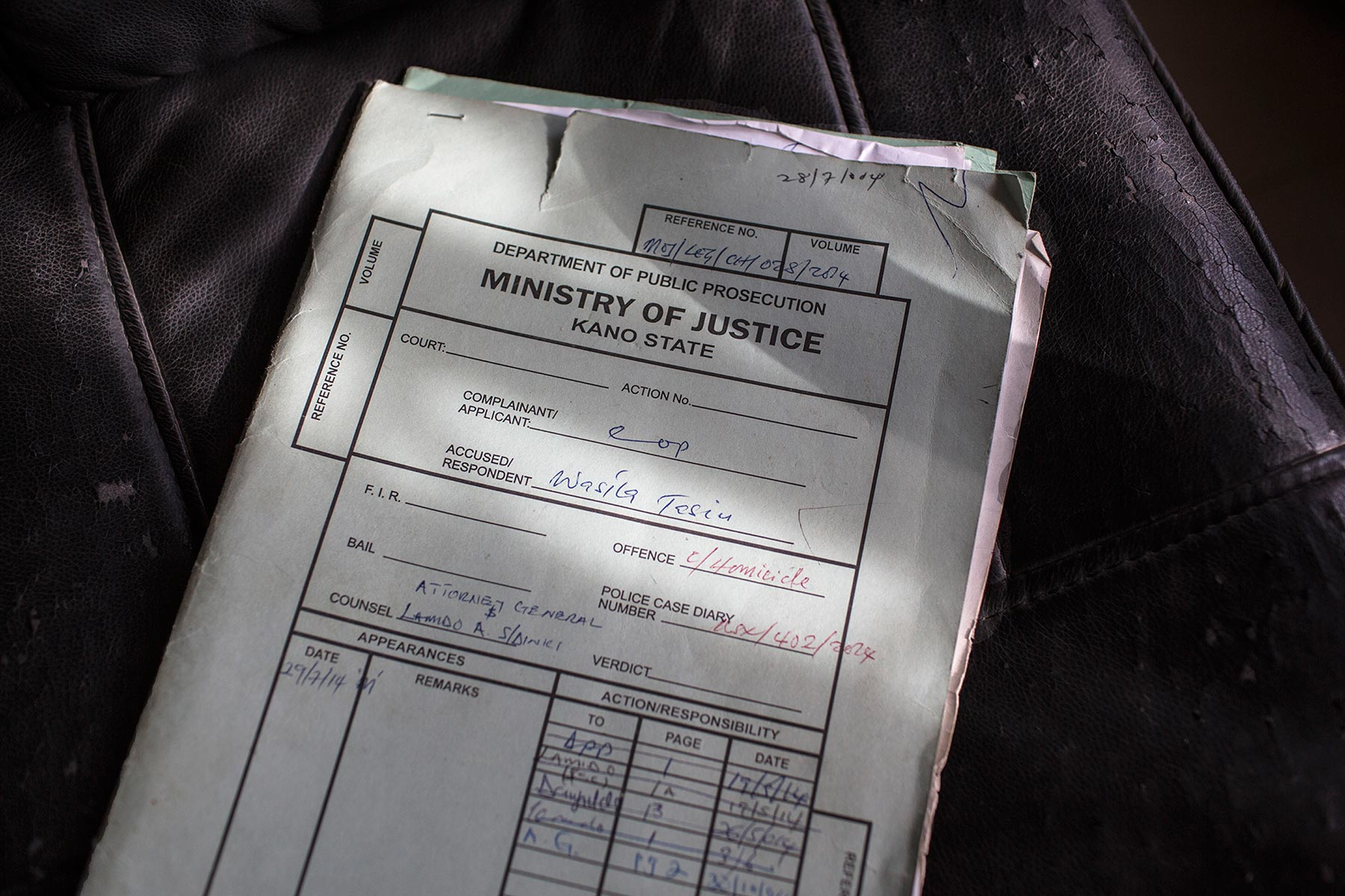 From marriage to murder – Sample Case File