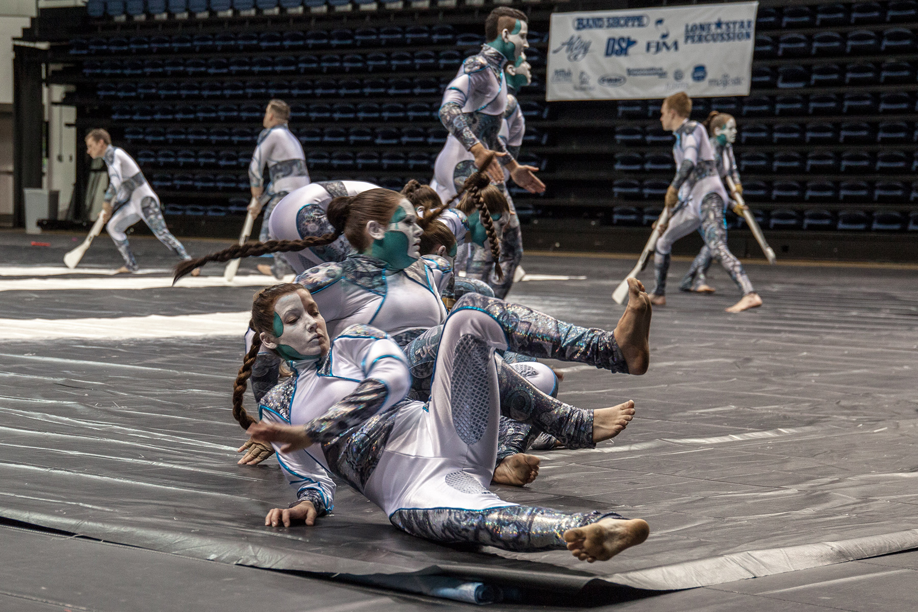 Articles about color guard - Members Of The Winter Guard Team Emanon From Hackettstown New Jersey During A Performance On The First Day Of Regionals Click To Enlarge Images